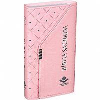 BIBLIA SAGRADA RA CARTEIRA ROSA CLARO 9788531113925