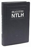BIBLIA DE ESTUDO NTLH NOVO TAMANHO CAPA COURO AZUL
