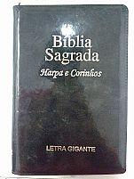 BIBLIA RC LETRA GIGANTE HARPA E CORINHOS PRETA BRILHANTE