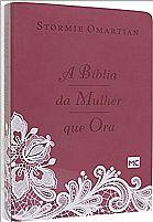 biblia da mulher que ora rosa grande 7898950265425