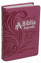 BIBLIA RA COM LETRA GRANDE PINK  7898521807023