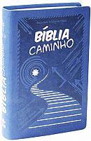 BIBLIA CAMINHO NTLH CAPA COURO SINTETICO AZUL 7898521804619