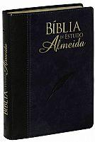 BÍBLIA DE ESTUDO ALMEIDA CP SINTÉTICO PRETO E AZUL