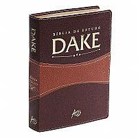 BIBLIA DE ESTUDO DAKE MARROM/MARROM CLARO 9788576071464