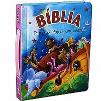 BIBLIA PRIMEIROS PASSOS COM JESUS ROSA  9788531113154