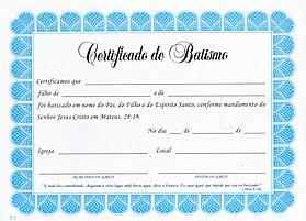 CERTIFICADO DE BATISMO GRANDE