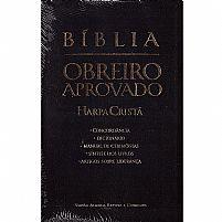 BIBLIA OBREIRO APROVADO PRETA MEDIA COM HARPA