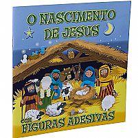 O NASCIMENTO DE JESUS C/ FIGURAS ADESIVAS