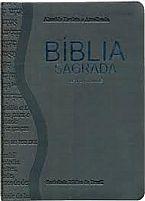 BIBLIA RA LETRA GRANDE CINZA ESCURO (P)