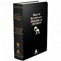 BIBLIA DE RECURSOS PARA MINISTERIO COM CRIANÇAS LUXO PRETA