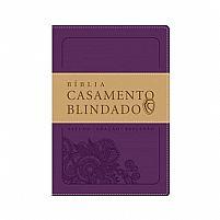 BIBLIA CASAMENTO BLINDADO ALMEIDA SECULO 21 LUXO ROXO 9788578606589