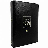 BIBLIA DE ESTUDO NVI CAPA LUXO PRETA