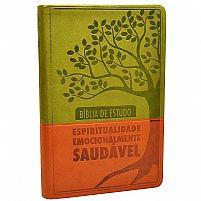 BÍBLIA DE ESTUDO ESPIRITUALIDADE EMOCIONALMENTE SAUDÁVEL - VERDE/MARROM