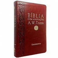 BIBLIA COM ANOTAÇOES A.W. TOZER  VINHO