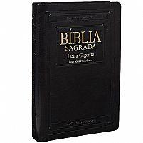 BIBLIA RA LETRA GIGANTE COM ÍNDICE CAPA SINTETICA PRETA