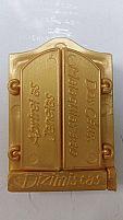 Janela Dos Dizimista Dourada 100 Unidades