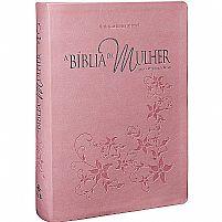 A BIBLIA DA MULHER RA  GRANDE ROSA CLARO