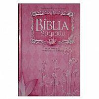 BIBLIA FEMININA CAPA DURA ROSA MISSIONARIA 7898521810481