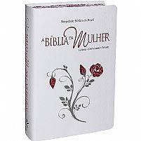 A Bíblia Da Mulher Branca Com Beiras Floridas RA 7898521813765