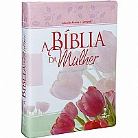 Bíblia Sagrada letra grande RC capa Tulipa
