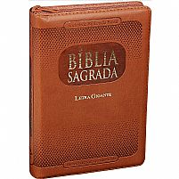 BIBLIA SAGRADA RA LETRA GIGANTE MARROM COM ZIPER 7898521802844