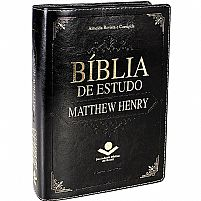 BIBLIA DE ESTUDO MATTHEW HENRY PRETA